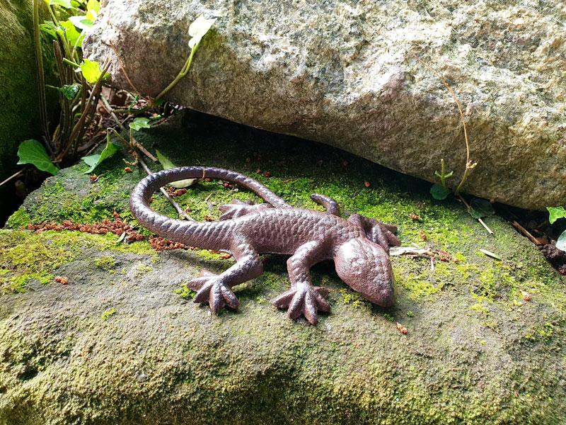 Gusseisen Tierchen - Gecko/Eidechse