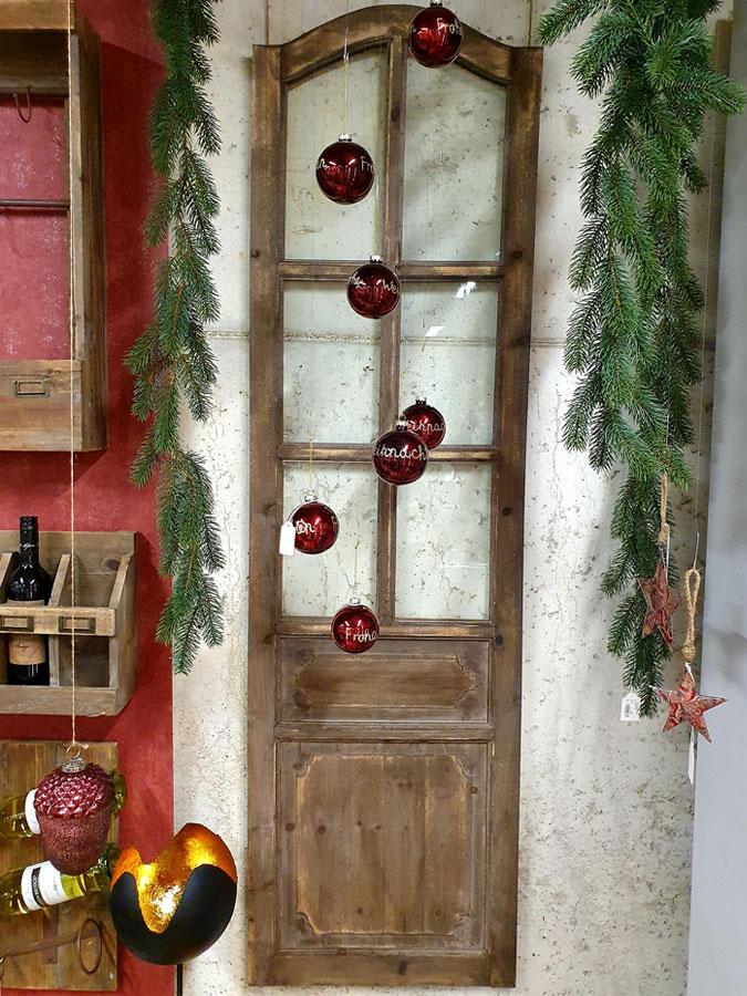 """Große Deko Tür mit Glas 50x180cm """"dunkelbraun"""" Vintage Türflügel"""