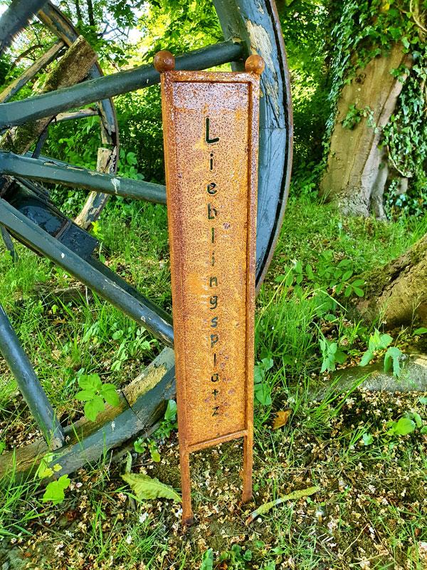 "Stele ""Lieblingsplatz"" Edelrost"